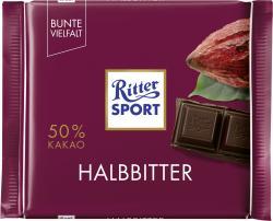 Ritter Sport Bunte Vielfalt Halbbitter  (100 g) - 4000417020000
