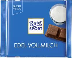 Ritter Sport Bunte Vielfalt Edel-Vollmilch  (100 g) - 4000417021007