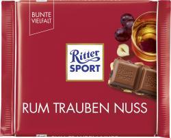 Ritter Sport Bunte Vielfalt Rum Trauben Nuss  (100 g) - 4000417012005