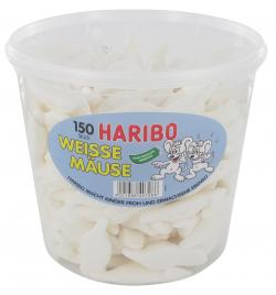 Haribo Weiße Mäuse  (150 St.) - 4001686407097