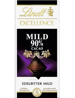 Lindt Excellence Edelbitter mild 90% Cacao  (100 g) - 3046920029759