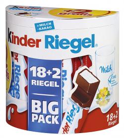 Kinder Riegel Big Pack + 2 gratis  (20 x 21 g) - 4008400222028