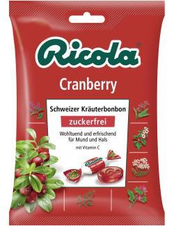Ricola Cranberry zuckerfrei  (75 g) - 7610700623053