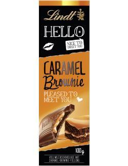 Lindt Hello Caramel Brownie Tafel  (100 g) - 4000539222009