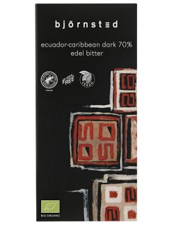 Björnsted Edel-Bitter-Schokolade 70%  (100 g) - 4044889000481