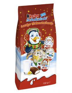 Kinder Schokolade lustige Weihnachtstaler  (102 g) - 4008400207926