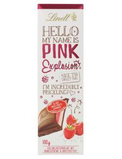 Lindt Hello Pink Explosion Tafel  (100 g) - 4000539226304