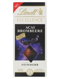 Lindt Excellence Acai Brombeere feinherb  (100 g) - 4000539107900
