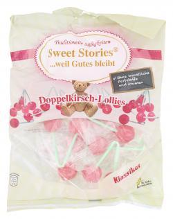 Sweet Stories Doppelkirsch-Lollies  (148 g) - 4014437232374