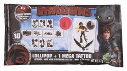 Dracco Candy Dragons Lollipop + Mega Tattoo  (5,70 g) - 4895069068773