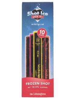 Shot Ice Frozen Shot Wassereis mit Alkohol 10 Stück  (400 ml) - 4260050481778