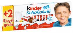 Kinder Schokolade 10 + 2 gratis  (150 g) - 4008400207322