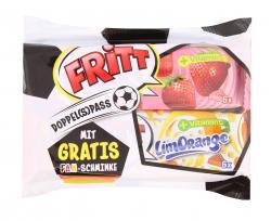 Fritt Doppel(s)pass Erdbeer Orange + Fanschminke  (2 x 70 g) - 4000607517105