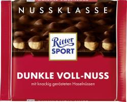 Ritter Sport Nussklasse Dunkle Voll-Nuss  (100 g) - 4000417702005