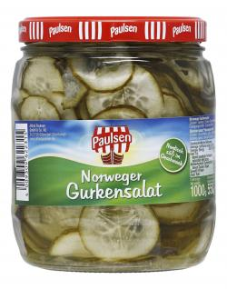 Paulsen Norweger Gurkensalat  (550 g) - 4009309622315