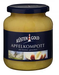 Küstengold Apfelkompott mit Stücken gezuckert  (360 g) - 4250426206357