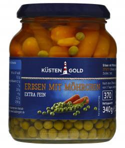 K�stengold Erbsen mit M�hren extra fein  (220 g) - 4250426200331