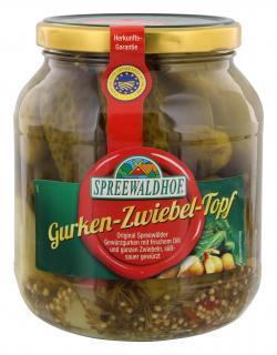 Spreewaldhof Gurken-Zwiebel-Topf  (530 g) - 4012712003015