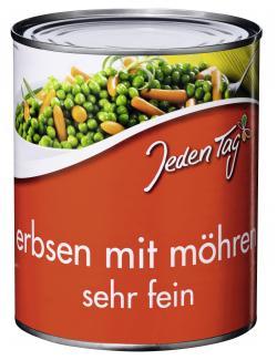 Jeden Tag Erbsen mit Möhren sehr fein  (530 g) - 4250548900331