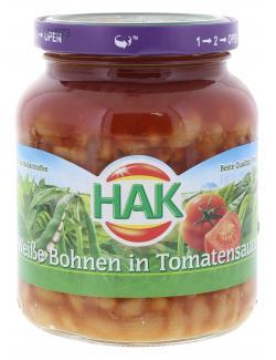 Hak Wei�e Bohnen in Tomatensauce  (400 g) - 8720600136108