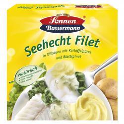 Sonnen Bassermann Mein Seehecht Filet in Dillsauce mit Kartoffelp�ree und Blattspinat  (400 g) - 4002473751508