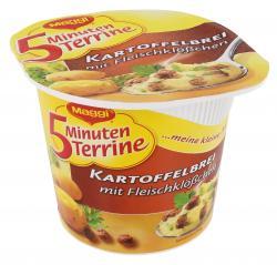 Maggi 5 Minuten Terrine Kartoffelbrei mit Fleischkl��chen  (49 g) - 4005500328056