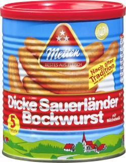 Metten Dicke Sauerl�nder Bockwurst  (5 x 80 g) - 4008401610152