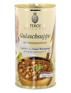 Barteroder Feinkost Gulaschsuppe  mit Champignonköpfe  (530 ml) - 4008002006675