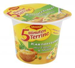 Maggi 5 Minuten Terrine Kartoffelbrei mit Erbsen & M�hren  (48 g) - 7613031713653