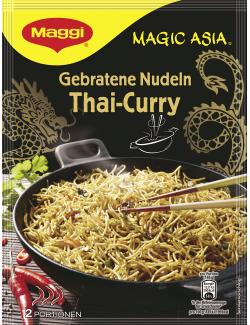 Maggi Magic Asia Gebratene Nudeln Thai-Curry  (130 g) - 7613031722594