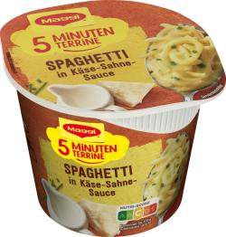 Maggi 5 Minuten Terrine Spaghetti in K�se-Sahne-Sauce  (62 g) - 7613031437870