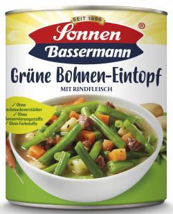 Sonnen Bassermann Grüne Bohnentopf mit geräuchertem Fleisch  (800 g) - 4002473962355