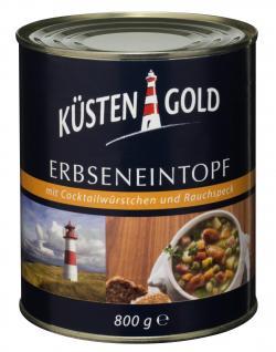 K�stengold Erbseneintopf mit Cocktailw�rstchen und Rauchspeck  (800 g) - 4250426204612