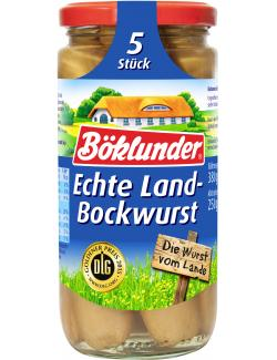 B�klunder Echte Landbockwurst  (5 x 50 g) - 4000404935355