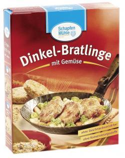 SchapfenMühle Dinkel-Bratlinge mit Gemüse  (200 g) - 4000950380166