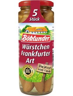 Böklunder Würstchen Frankfurter Art  (5 x 42 g) - 4000404121857