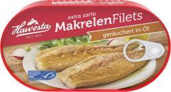 Hawesta Makrelenfilets ger�uchert in feinem Pflanzen�l und eigenem Saft  (190 g) - 4006922000100