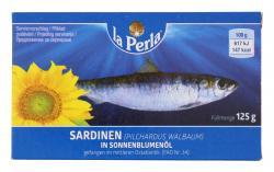 La Perla Sardinen in Sonnenblumenöl  (125 ml) - 6410400010501