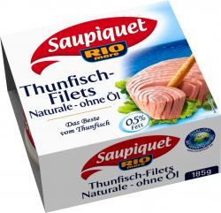 Saupiquet Rio Mare Thunfisch-Filets Naturale ohne Öl  (130 g) - 3165955527013