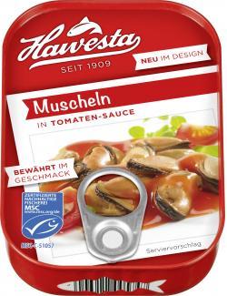Hawesta Muscheln in Tomaten-Sauce  (110 g) - 4006922005747