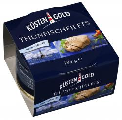 K�stengold Thunfischfilets natur - ohne �l  (150 g) - 4250426208276