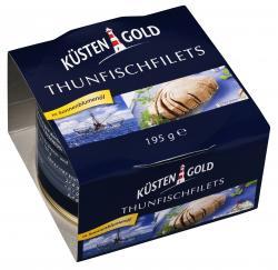 Küstengold Thunfischfilets in Sonnenblumenöl  (140 g) - 4250426208290