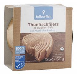 Followfish Thunfischfilets in eigenem Saft  (130 g) - 4250073450639
