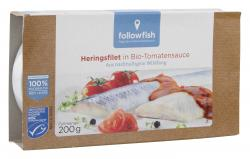 Followfish Heringsfilet in Bio-Tomatensauce  (200 g) - 4250073451728