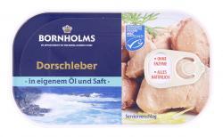 Bornholms Dorschleber in eigenem Saft und Öl  (115 g) - 5702024007847