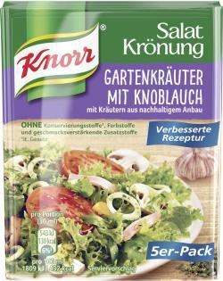Knorr Salatkrönung Gartenkräuter mit Knoblauch  - 4038700119094