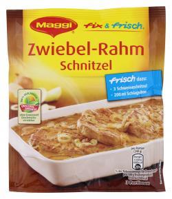 Maggi fix & frisch Zwiebel-Rahm Schnitzel  (35 g) - 4005500002147
