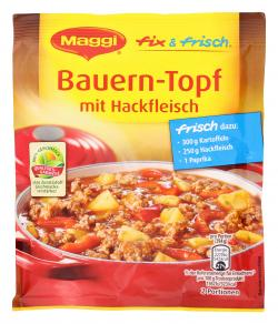 Maggi fix & frisch Bauern-Topf mit Hackfleisch  (39 g) - 7613030712022