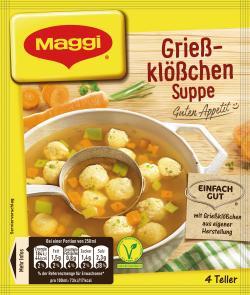 Maggi Guten Appetit Grießklößchen-Suppe  - 4005500324430