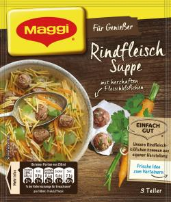 Maggi Für Genießer Rindfleisch Suppe  - 4005500324454